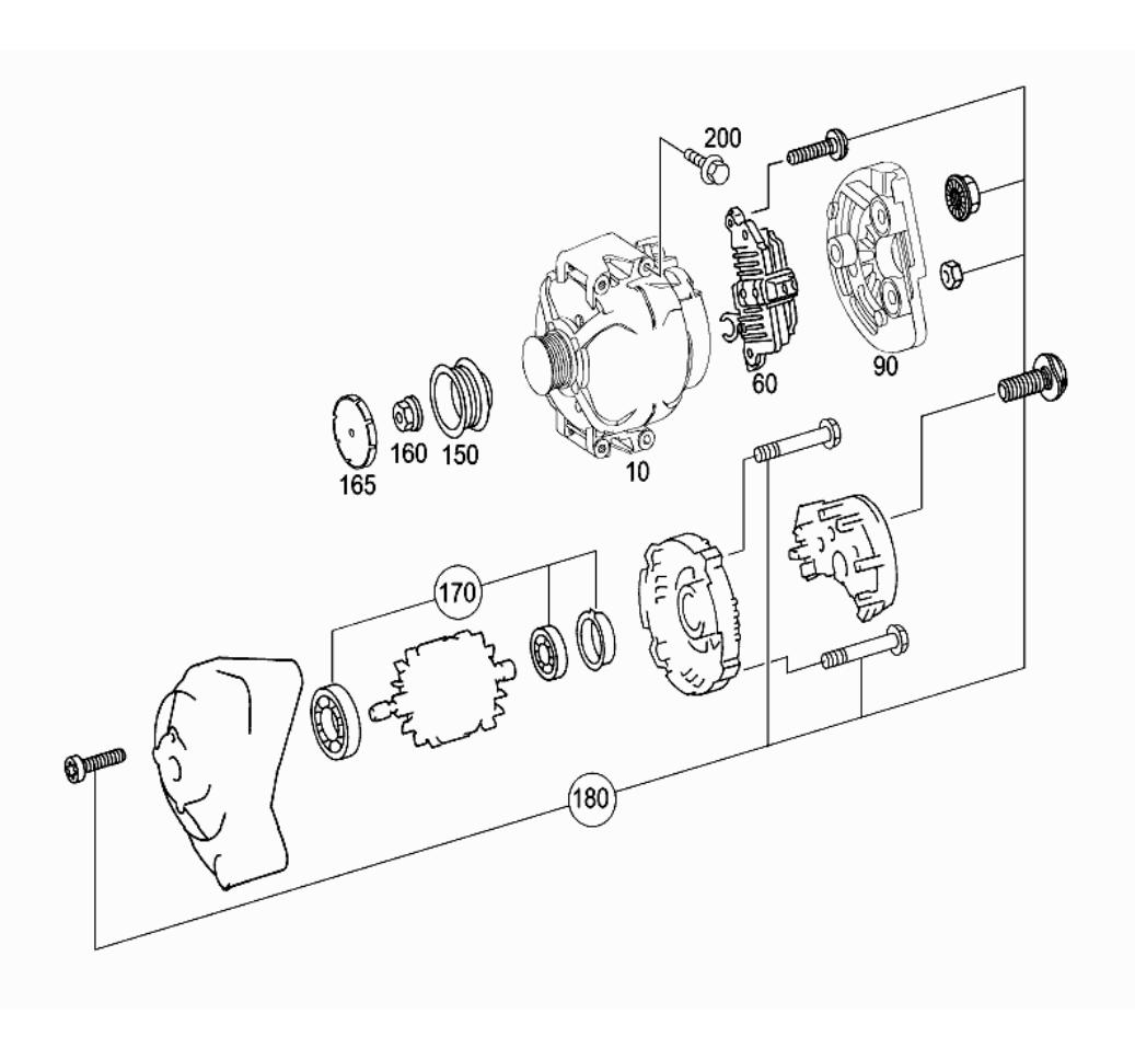 オルタネーターの図